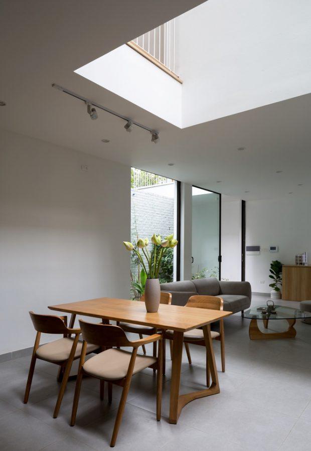 ช่องเปิด open space กลางบ้าน