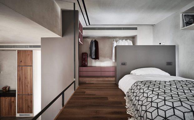 ห้องนอนสไตล์โมเดิร์นมินิมอลโทนขาวดำ