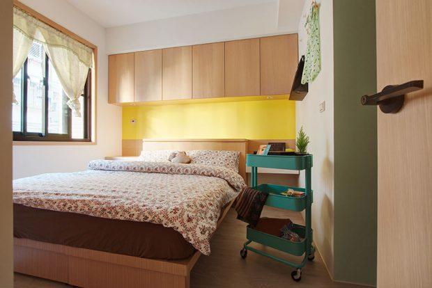 ห้องนอนสีเหลืองสดใส