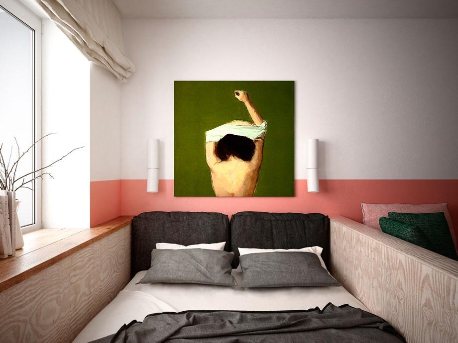 มุมห้องนอนเล็ก ๆ โทนพาสเทล