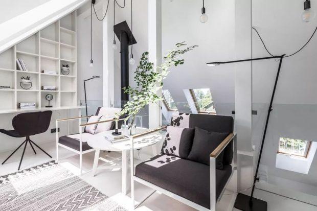 บ้านโมเดิร์นมินิมอลโทนสีขาว-ดำ