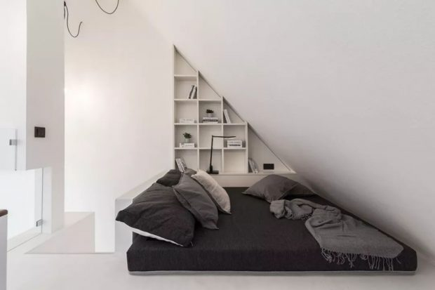 แต่งห้องนอนโทนสีขาว-ดำ