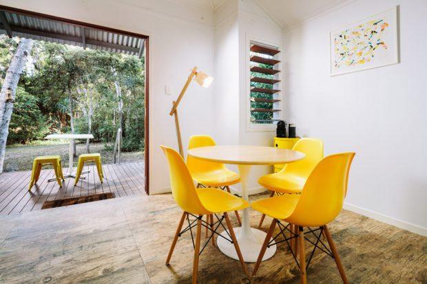 ชุดโต๊ะทานข้าวสีเหลือง