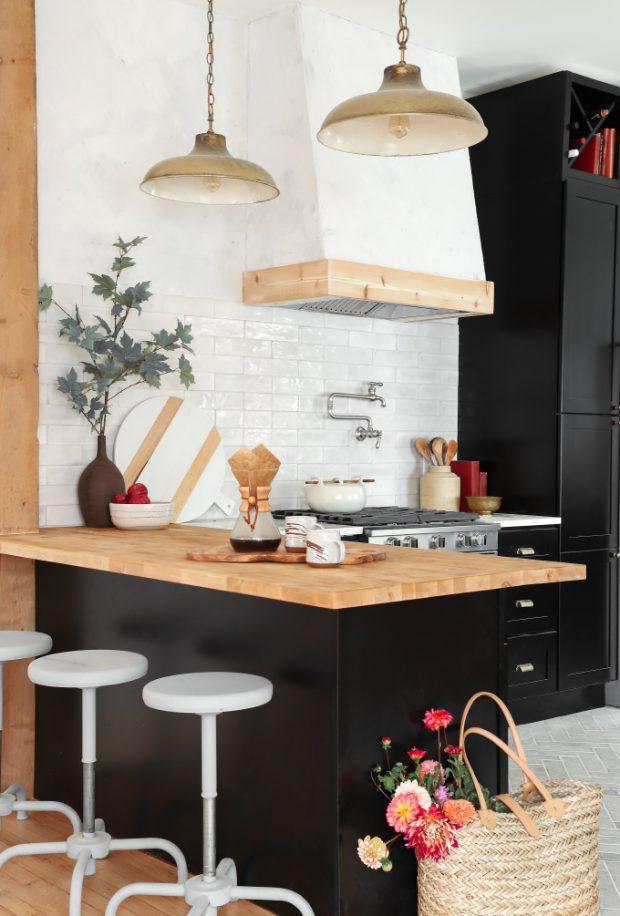 แพนทรีครัวท็อปไม้