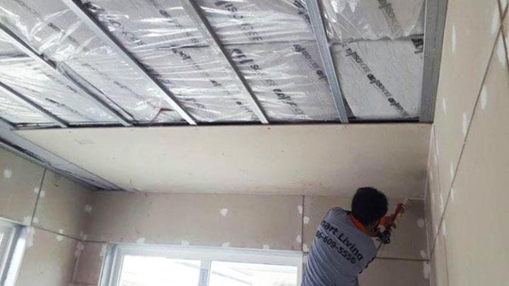 ฉนวนกันเสียงรบกวน บนฝ้าเพดาน