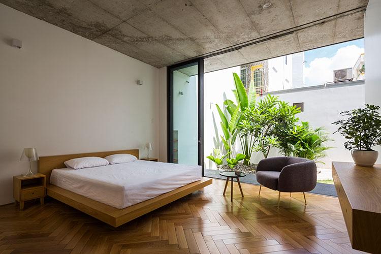 ห้องนอนเปิดรับบรรยากาศสวน