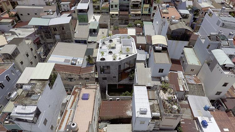 บ้านตึกทรงขนมเปียกปูน