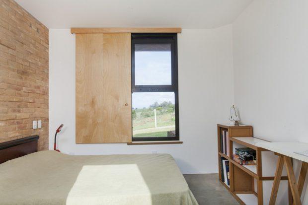 หน้าต่างไม้อัดสไตล์โมเดิร์น