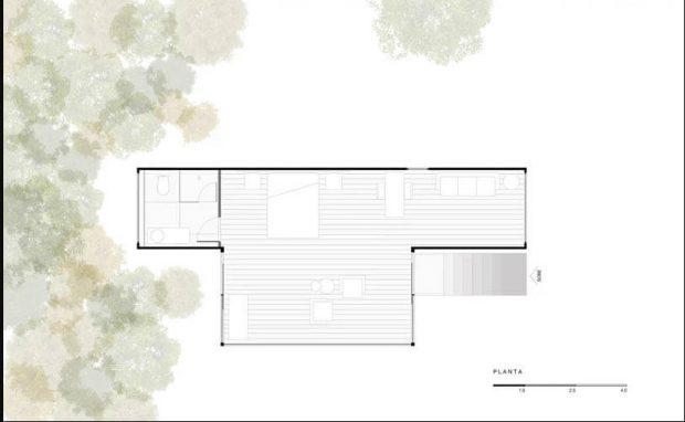 แปลนบ้าน 1 ห้องนอน