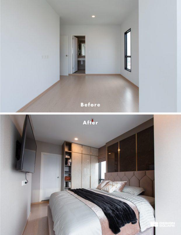 ตกแต่งห้องนอนในคอนโดจาก SB