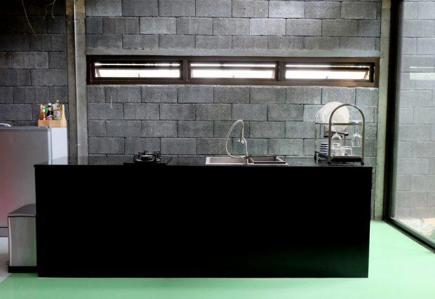 ห้องครัวโทนสีดำ-เขียว