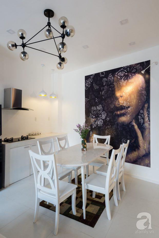ห้องทานข้าวสีขาว