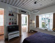 เพดานตกแต่งฝ้าเป็นลอนโค้ง