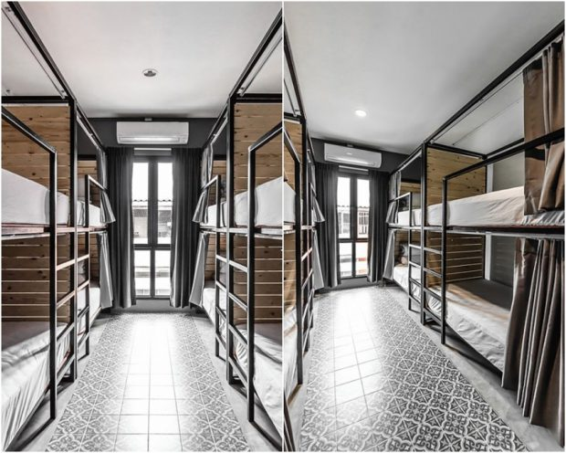 ห้องนอนในโฮสเทล
