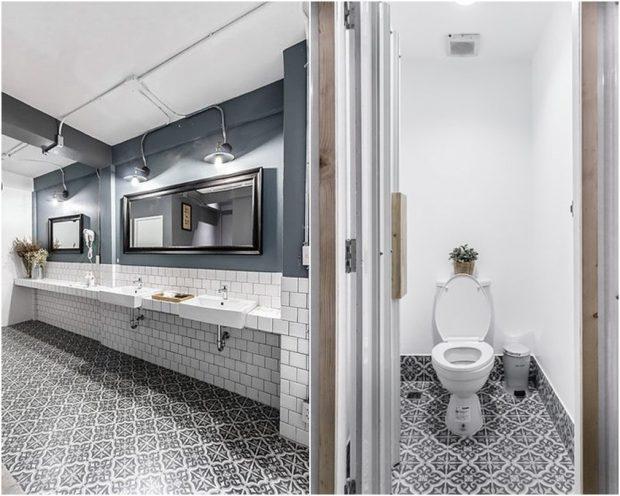 ตกแต่งห้องน้ำด้วยกระเบื้องลายโบราณ