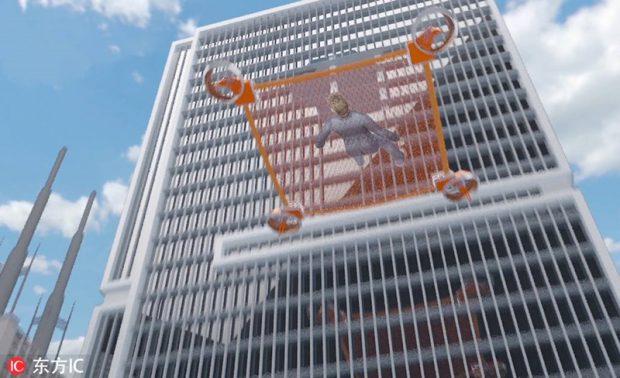 โดรนยักษ์ช่วยชีวิตผู้ประสบภัยในตึกสูง