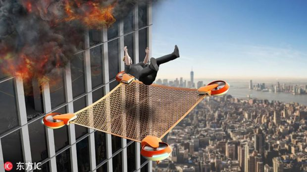 Net-Guard ช่วยชีวิตผู้ประสบภัยในตึกสูง