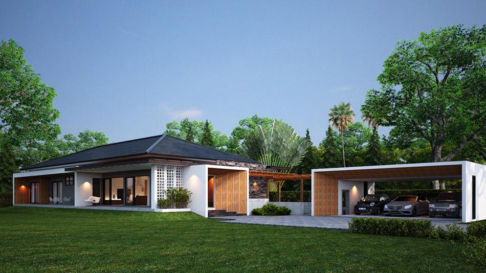 ออกแบบบ้าน ประจวบ ปันแปลน