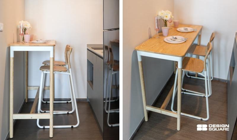 โต๊ะทานข้าวพื้นที่เล็กๆ
