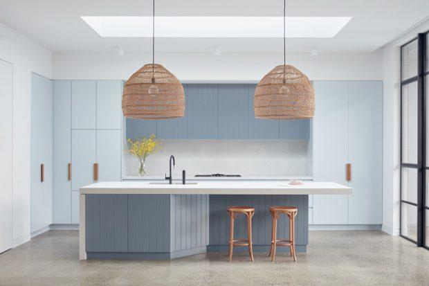 ห้องครัวโทนสีขาวฟ้า