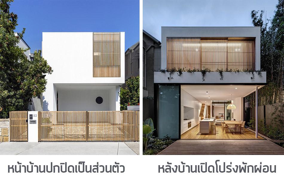 ออกแบบบ้าน ทิศตะวันตก
