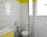 ห้องน้ำโทนสีขาวเหลือง