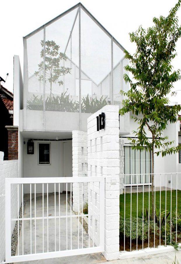 บ้านโมเดิร์นมินิมอลสีขาว