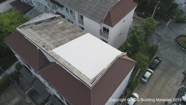 หลังใช้บริการซ่อมหลังคาทาวน์เฮ้าส์กับ Top Up Roof