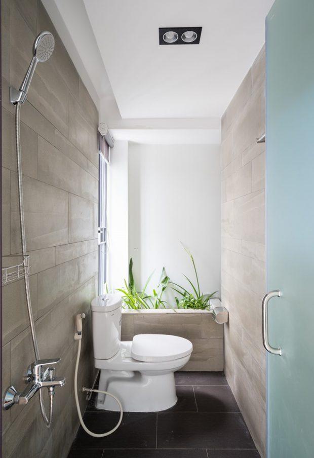 จัดสวนในห้องน้ำเล็ก ๆ