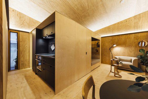 ภายในบ้านขนาดเล็ก 1 ห้องนอน