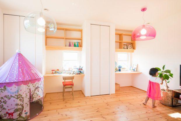 ห้องนอนเด็กสีสดใส
