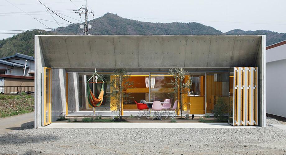 บ้านคอนกรีตแนวลึก