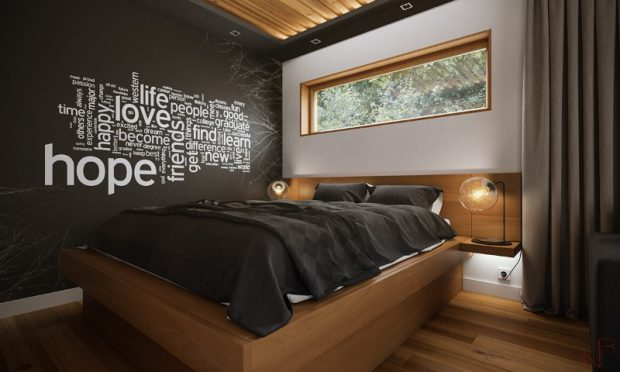 ห้องนอนตกแต่งไม้สไตล์โมเดิร์น