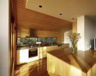 ห้องครัวตกแต่งไม้ร่วมสมัย