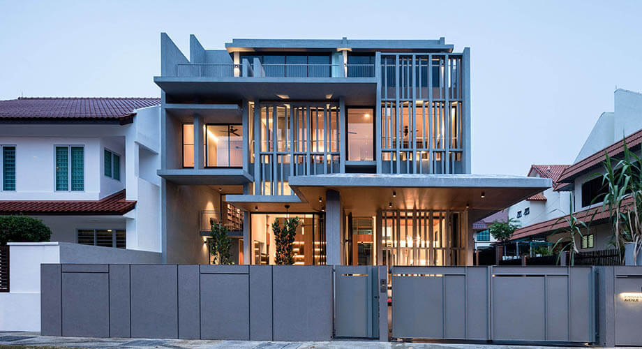 บ้านฟาซาดคอนกรีต