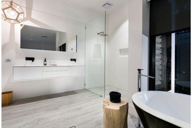 ห้องน้ำโมเดิร์นโทนสีขาวดำ