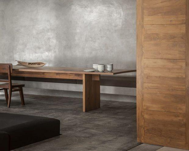 โต๊ะไม้สไตล์โมเดิร์นมินิมอล