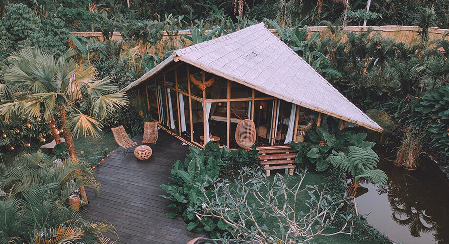 บ้านไม้ไผ่สไตล์รีสอร์ท