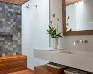 ห้องน้ำตกแต่งสไตล์ nature