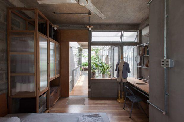 ห้องทำงานและทางเดินในบ้าน
