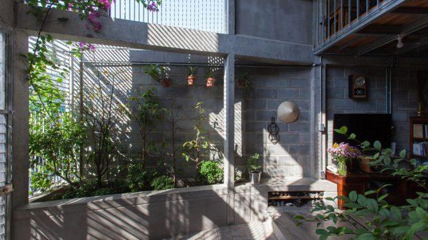 บ้านจากบล็อกคอนกรีต