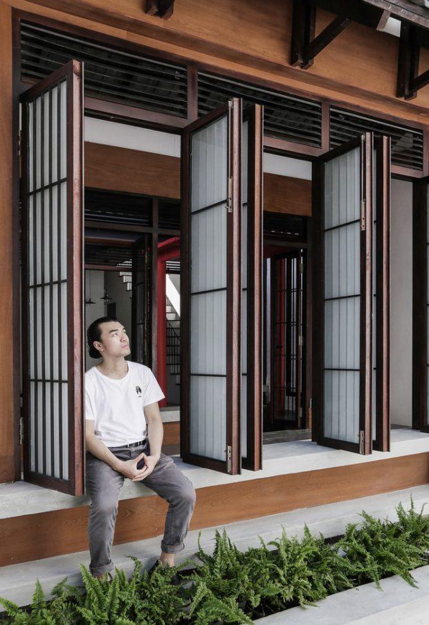 ประตูบานเฟี้ยมสไตล์ญี่ปุ่น