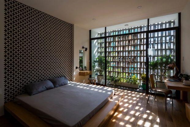 ห้องนอนมีฟาซาดกรองแสง