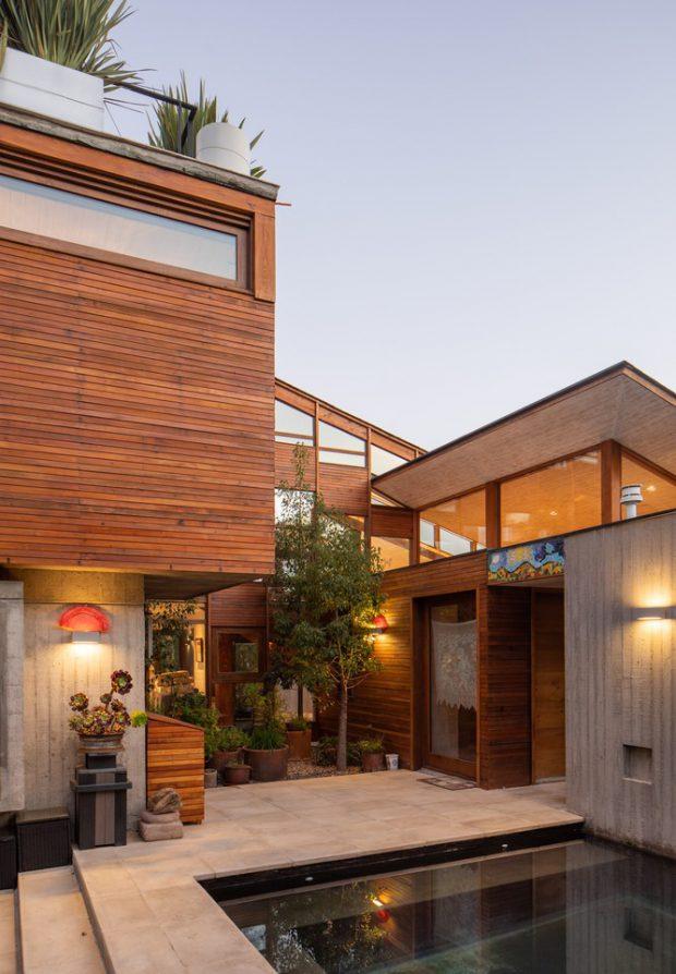 บ้านไม้กับคอนกรีตสไตล์โมเดิร์น