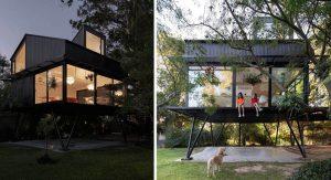 บ้านต้นไม้โครงสร้างเหล็ก