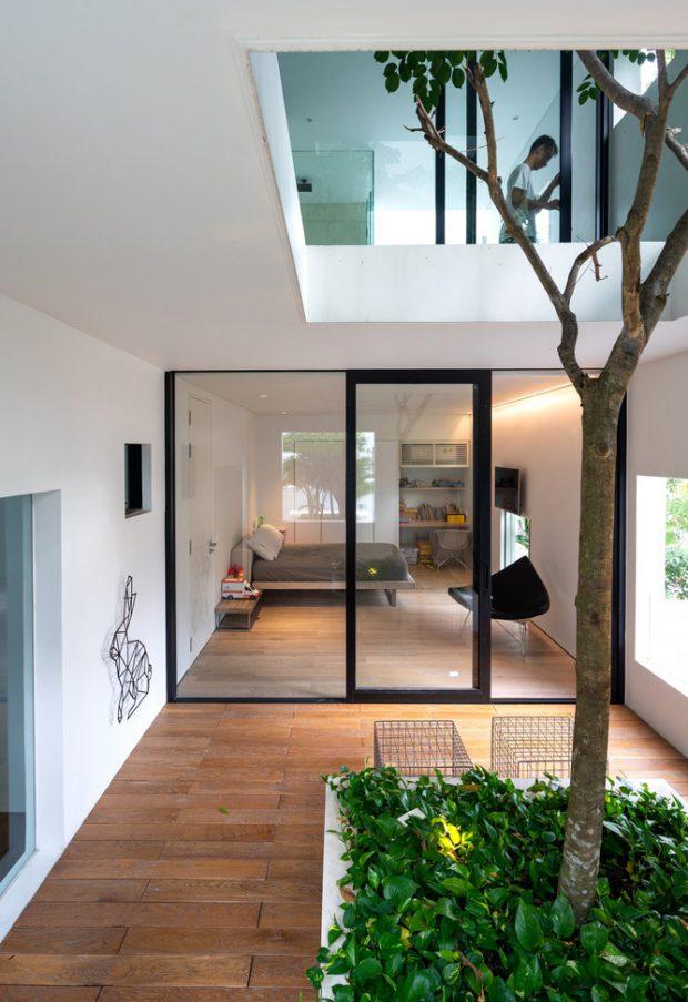 บ้านมีสเปซสร้างคอร์ทกลางบ้าน