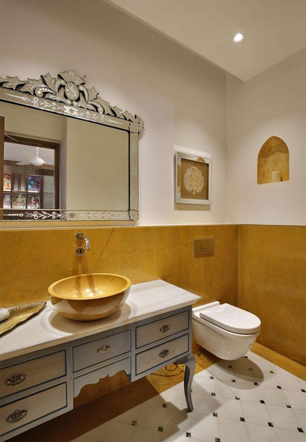 ตกแต่งห้องน้ำโทนสีเหลือง