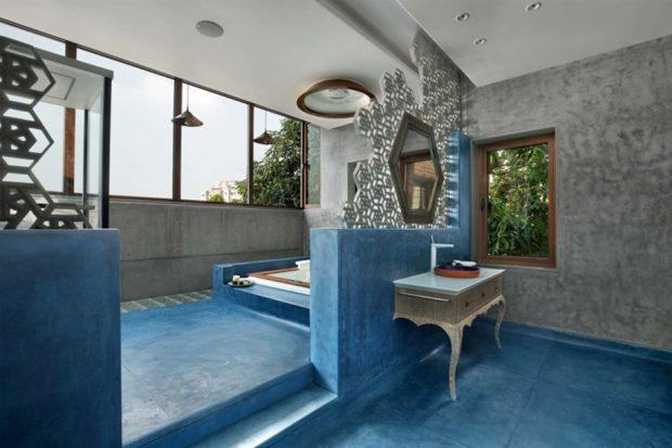 ห้องน้ำโทนสีน้ำเงิน