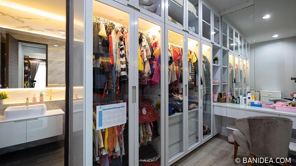 บิวท์อินตู้เสื้อผ้า ห้องแต่งตัว
