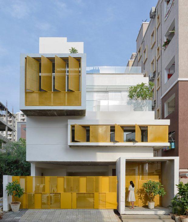 บ้านโมเดิร์นโทนสีเหลือง-ขาว